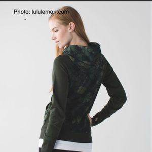 lululemon athletica Jackets & Coats - Lululemon Scuba Butterfly Fatigue Hoodie size 6
